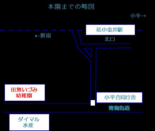 田無いづみ幼稚園 略地図